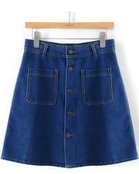 Minifalda vaquera azul marino
