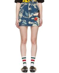 Minifalda vaquera azul de Gucci