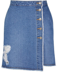Minifalda vaquera azul de SteveJ & YoniP