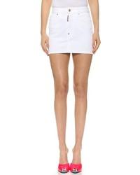 Minifalda vaquera blanca de Dsquared2