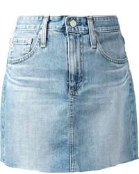 Minifalda vaquera celeste de AG Jeans