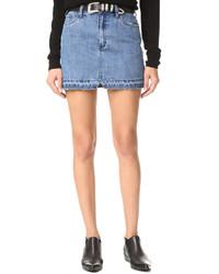 Minifalda vaquera celeste de Free People