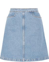 Minifalda vaquera celeste de MiH Jeans