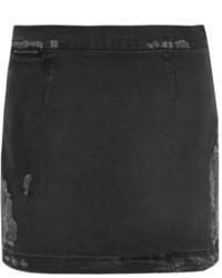 Minifalda vaquera en gris oscuro