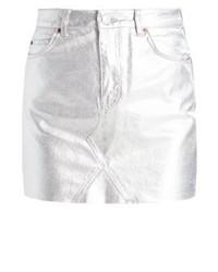 Minifalda Vaquera Gris de Topshop