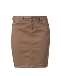 Minifalda vaquera marrón