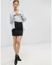 Minifalda vaquera negra de Asos