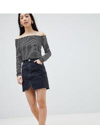 Minifalda vaquera negra de Asos Petite