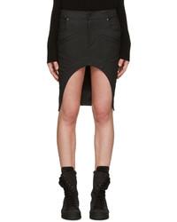 Minifalda vaquera negra de Haider Ackermann