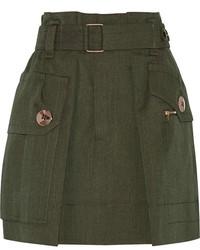 Minifalda verde oscuro de Marc Jacobs
