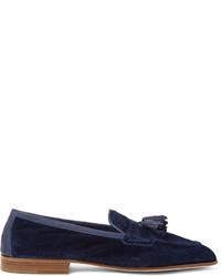 Mocasín con borlas de ante azul marino de Edward Green