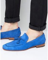 Mocasín con borlas de ante azul de Jeffery West