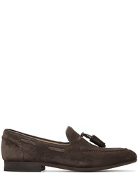 Mocasín con borlas de ante en marrón oscuro de H By Hudson