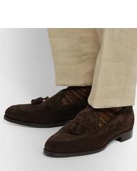 Mocasín con borlas de ante en marrón oscuro de Cheaney