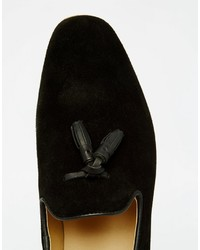 Mocasín con borlas de ante negro de Asos
