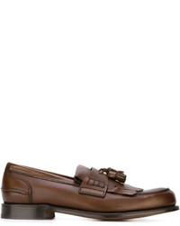Mocasín con borlas de cuero marrón de Church's