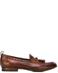 Mocasín con borlas de cuero marrón de Silvano Sassetti