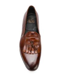 Mocasín con borlas de cuero marrón de W.Gibbs