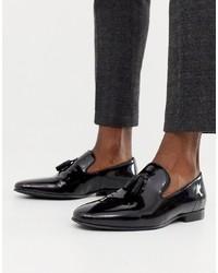Mocasín con borlas de cuero negro de Office