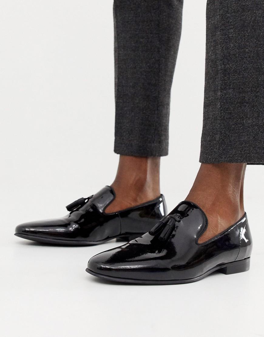 163a077b Mocasín con borlas de cuero negro de Office, €70 | Asos | Lookastic ...