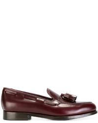 Mocasín con borlas de cuero rojo de Paul Smith