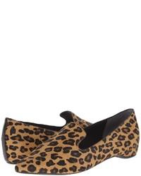 Mocasín de ante de leopardo marrón