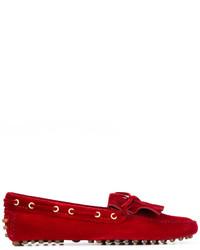Mocasín de Ante Rojos de Car Shoe