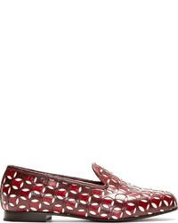 Mocasín de cuero burdeos de Marc Jacobs