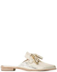 Mocasín de cuero dorados de Stuart Weitzman