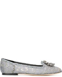 Mocasín de cuero grises de Dolce & Gabbana