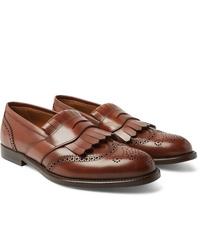 Mocasín de cuero marrón de Brunello Cucinelli