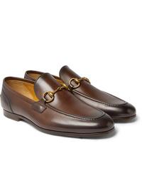 Mocasín de cuero marrón de Gucci