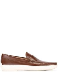 Mocasín de cuero marrón de Tod's
