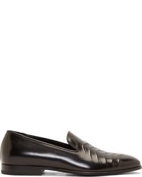 Mocasín de cuero negro de Alexander McQueen