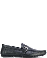 Mocasín de cuero negro de Calvin Klein