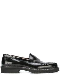 Mocasín de Cuero Negro de Givenchy