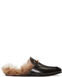 Mocasín de cuero negro de Gucci