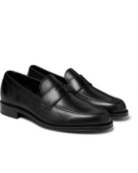 Mocasín de cuero negro de Paul Smith