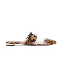 Mocasín de pelo de becerro de leopardo marrón claro