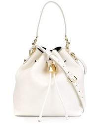 Mochila con cordón de cuero blanca de Dolce & Gabbana