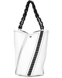 Mochila con cordón de cuero blanca de Proenza Schouler