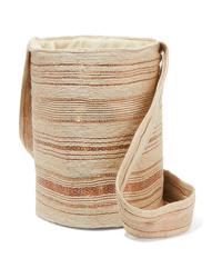 Mochila con cordón de lona en beige de VERDI