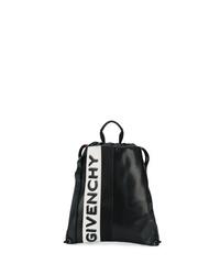 Mochila de cuero en negro y blanco de Givenchy