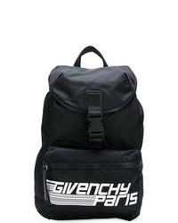 Mochila de cuero estampada en negro y blanco de Givenchy