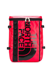 Mochila de cuero estampada roja de The North Face