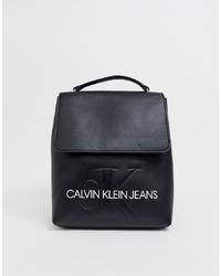 Mochila de cuero negra de Calvin Klein Jeans