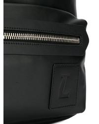 Mochila de cuero negra de Lanvin