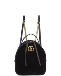 Mochila de cuero negra de Gucci