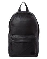 Mochila de Cuero Negra de Spiral Bags