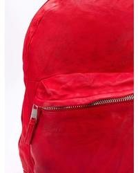 Mochila de cuero roja de Giorgio Brato